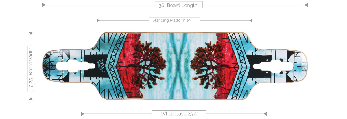 DB Longboards Vantage 36 Deck Specifications