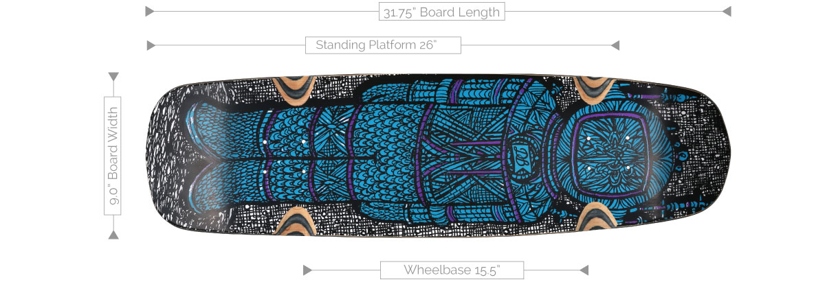 DB Longboards Apollo 32 Deck Specifications