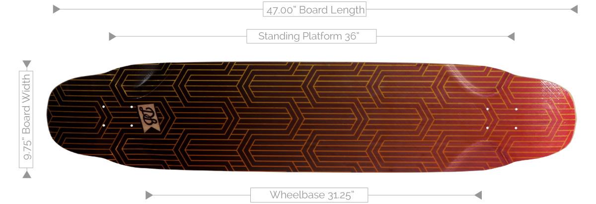 DB Longboards Dance Floor 47 Flex 2 Deck Specifications