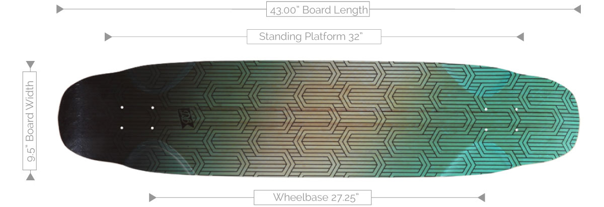 DB Longboards Dance Floor 43 Flex 1 Deck Specifications