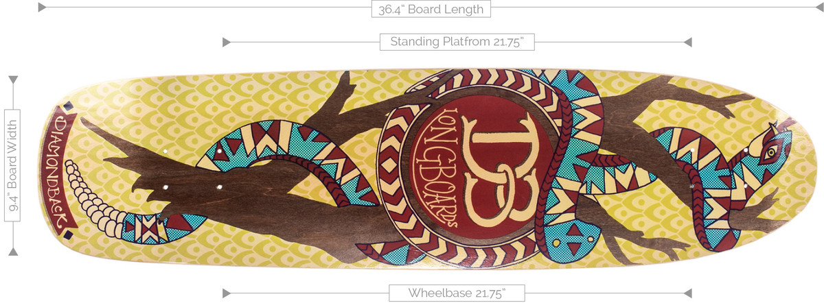 DB Longboards Diamond Back Deck Specifications
