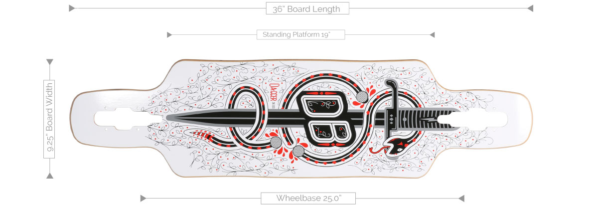 DB Longboards Dagger 36 Deck Specifications