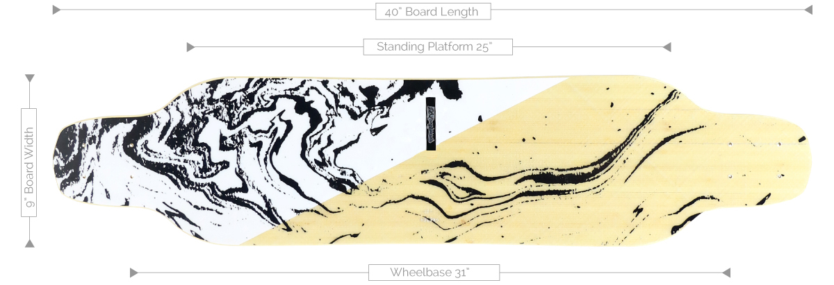 DB Longboards Crossbow 40 White Specifications