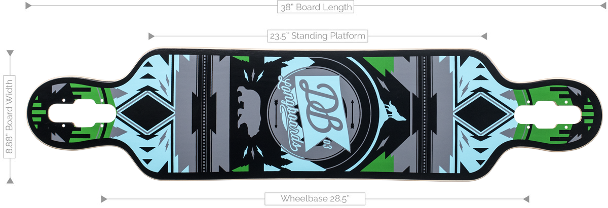 DB Longboards Urban Native 38 Deck Specifications